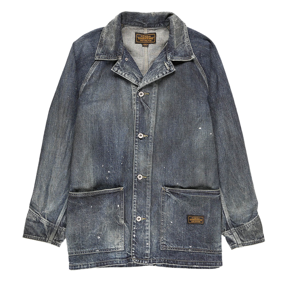 Neighborhood Savage Distressed Denim Chore Coat  - XHIBITION