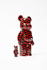 Medicom Black Hearts BE@RBRICK 100% + 400%  - XHIBITION