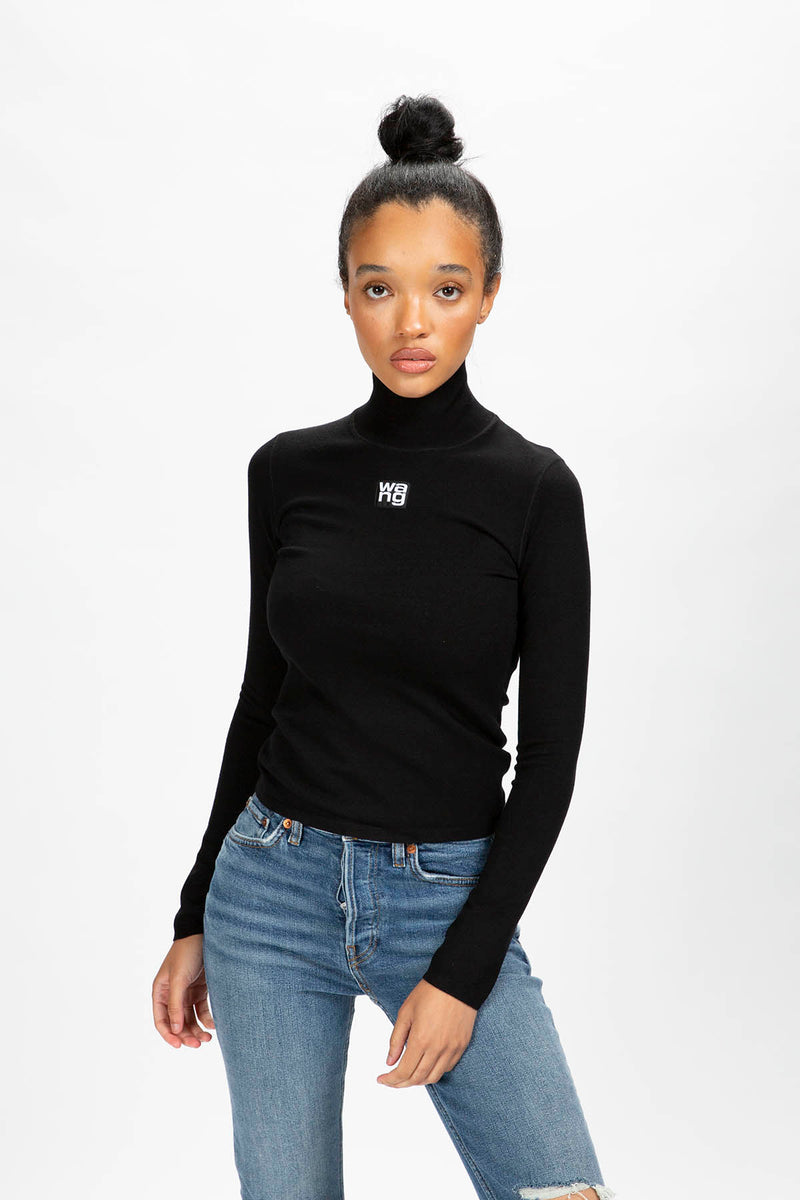 Alexander Wang Women's Patch Logo Turtleneck  - XHIBITION