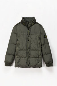 Stone Island Badge Logo Down Jacket  - XHIBITION