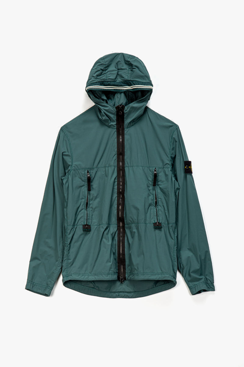 Stone Island Badge Logo Hooded Jacket  - XHIBITION