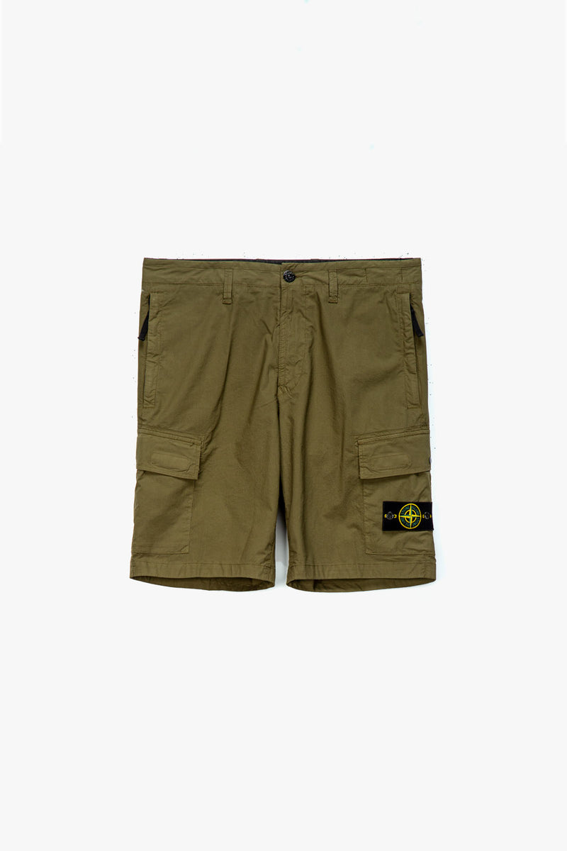 Stone Island Badge Logo Cargo Shorts  - XHIBITION