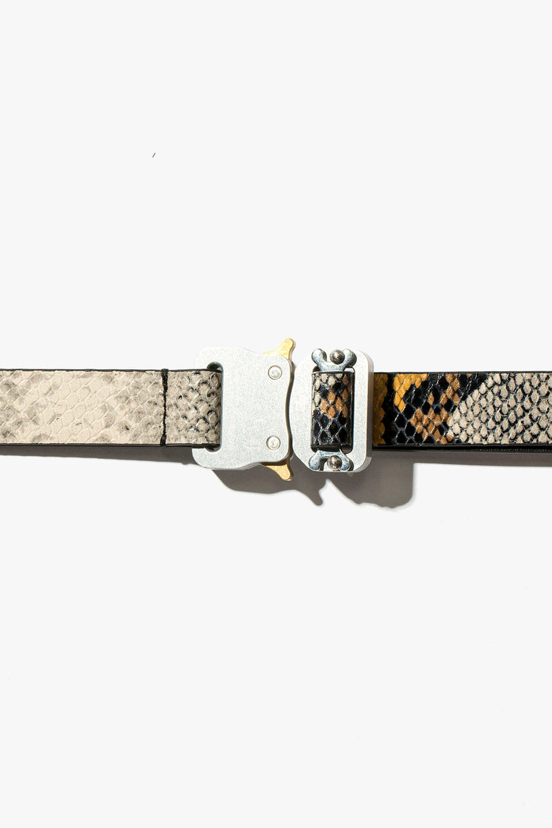 1017 ALYX 9SM Leather Animal Print Medium Rollercoaster Belt  - XHIBITION