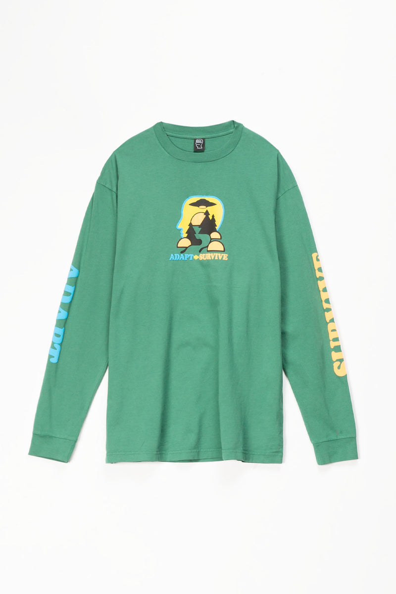 Brain Dead Adapt/Survive Long Sleeve T-Shirt  - XHIBITION