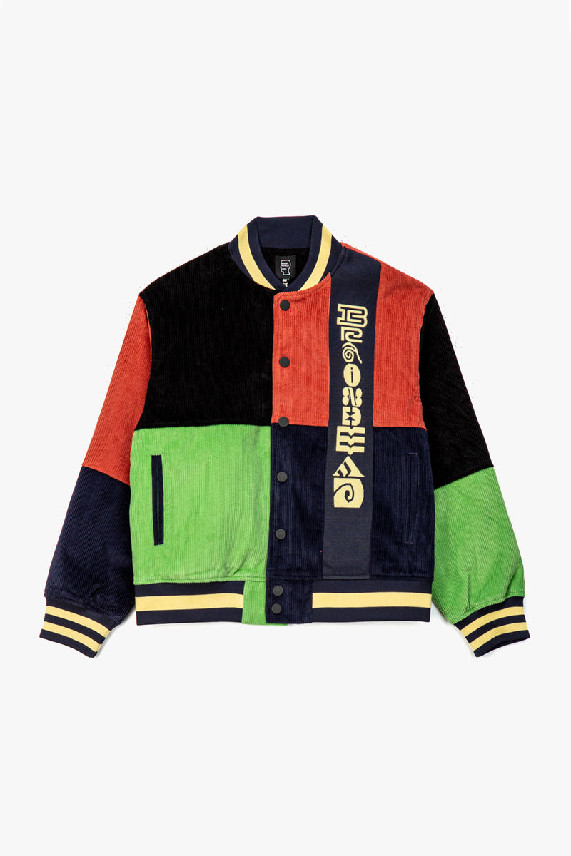 Jacquard Patchwork Letterman Jacket