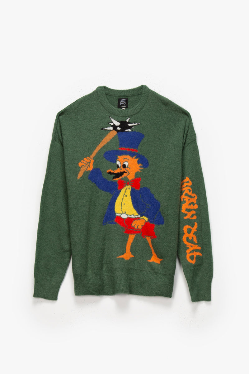 Brain Dead Brain Duck Novelty Sweater  - XHIBITION
