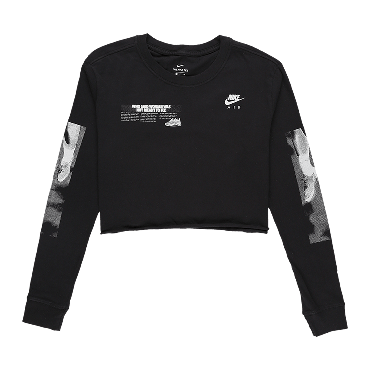 Nike Women's Lux Raw Cropped Long Sleeve T-Shirt  - XHIBITION