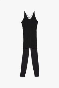 Nike Women's Yoga Luxe Layered 7/8 Jumpsuit  - XHIBITION