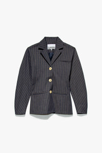 GANNI Women's Stretch Stripe Blazer  - XHIBITION