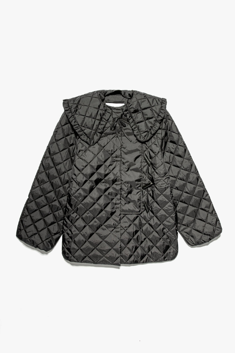 GANNI Women's Recycled Ripstop Quilted Jacket  - XHIBITION