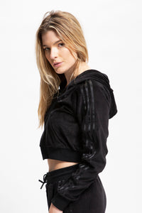 adidas Women's Cropped Full Zip Hoodie  - XHIBITION