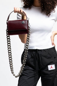 Kara Baby Pinch Shoulder Bag With Chain  - XHIBITION