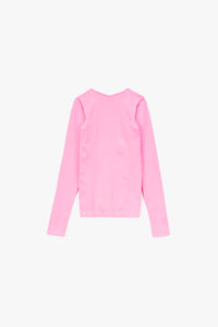 Helmut Lang Women's Seamless Slash V-Neck Long Sleeve T-Shirt  - XHIBITION