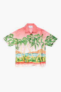 Casablanca Rose A Maui Printed Short Sleeve Slik Shirt  - XHIBITION