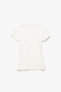 Off-White Women's Basic Ribbed T-Shirt  - XHIBITION
