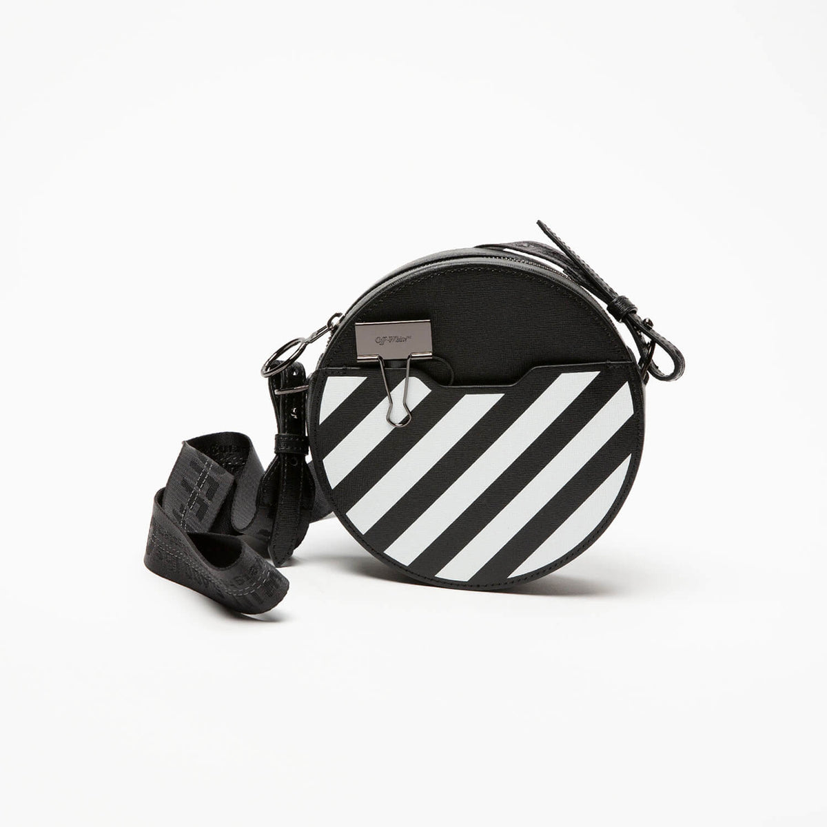 Off-White Women's Diagonal Round Bag  - XHIBITION