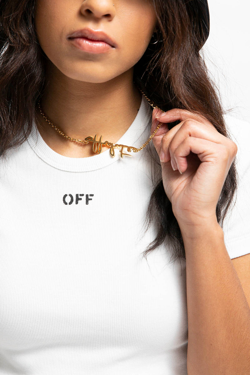Off-White Women's Logo Necklace  - XHIBITION
