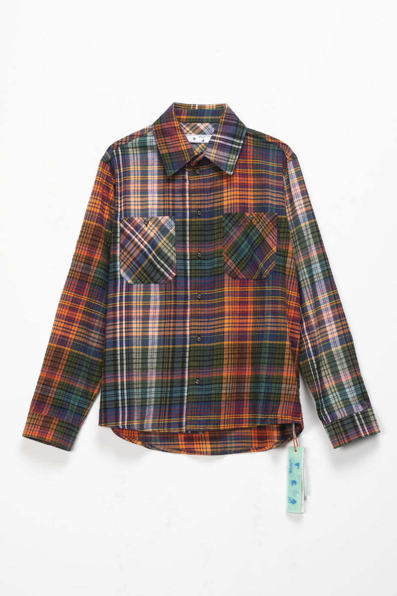 Off-White Stencil Flannel Check Shirt  - XHIBITION