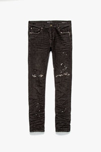 Purple Brand Black Over Spray Jeans  - XHIBITION