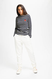 Comme des Garcons PLAY Women's Striped Knit Pullover  - XHIBITION