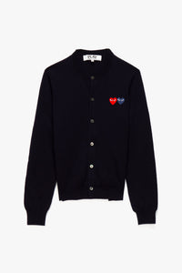 Comme des Garcons PLAY Women's Double Heart Cardigan  - XHIBITION