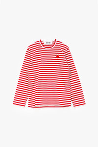 Comme des Garcons PLAY Striped Long Sleeve T-Shirt  - XHIBITION