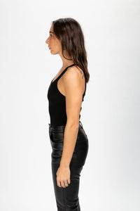 RE/DONE Women's Ribbed Tank Bodysuit  - XHIBITION