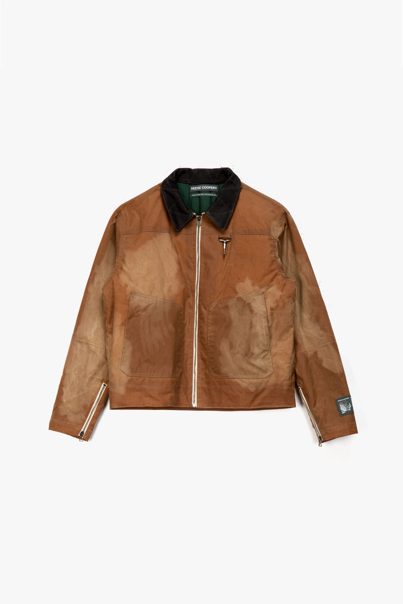 Reese Cooper Waxed Cotton Biker Jacket  - XHIBITION