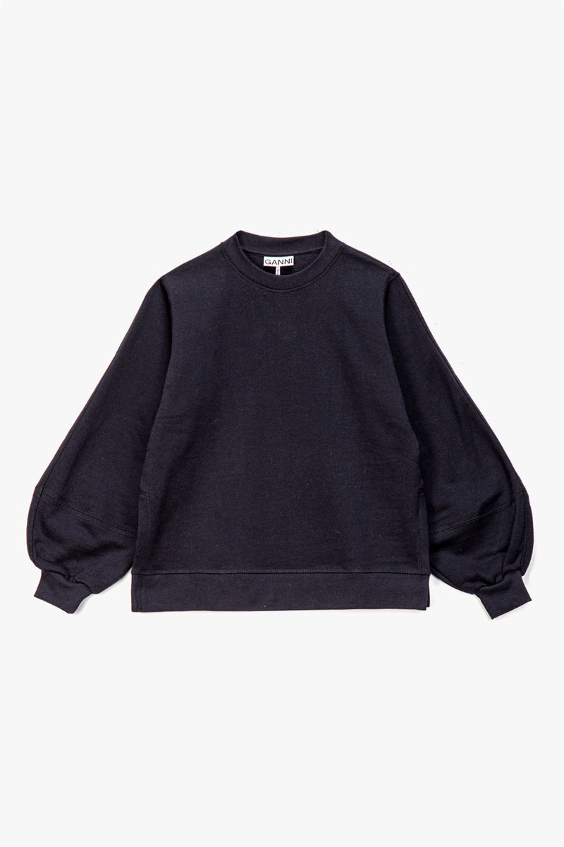 GANNI Women's Puff Sleeve Software Crewneck  - XHIBITION