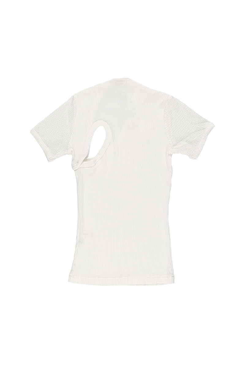 John Elliott Women's Cotton Rib Asym T-Shirt  - XHIBITION