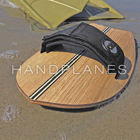 Sole Bodysurfing Handplane on The Beach With Bodysurfing Fins