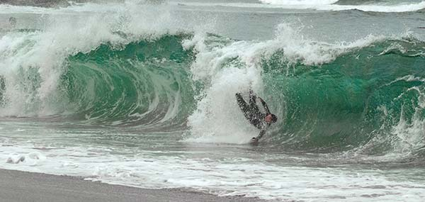 bodysurfing wipeout
