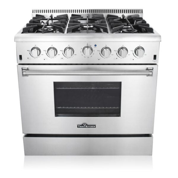 Thor HRG3618U 36″ PRO-STYLE 6 STAINLESS STEEL BURNER GAS RANGE - d-airconditioning