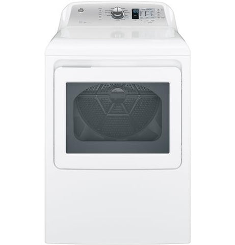 GE® 7.4 cu. ft. capacity aluminized alloy drum electric dryer with HE Sensor Dry GTD65EBSJWS - d-airconditioning