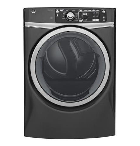 GE® 8.3 cu. ft. capacity Front Load electric ENERGY STAR® dryer with steam GFD48ESPKDG