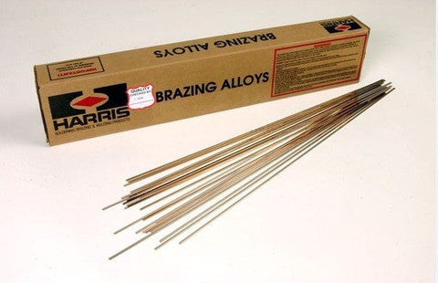 "LOT OF 28 HARRIS 15"" X 1/8"" X .050"" SILVER BRAZING ALLOY RODS - d-airconditioning"