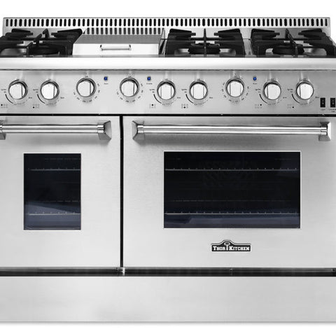 Thor HRG4808U 48″ 6 BURNER STAINLESS STEEL PROFESSIONAL GAS RANGE - d-airconditioning