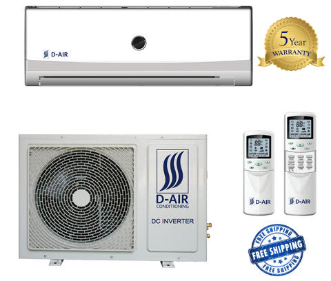 D Air 18000 BTU 20 SEER Ductless Mini Split Heating & Air Conditioner - d-airconditioning