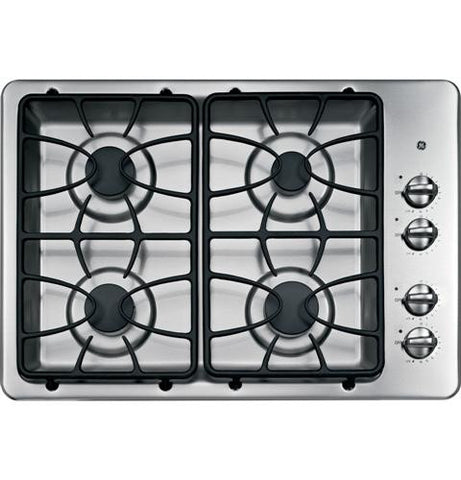"GE® 30"" Built-In Gas Cooktop - JGP329SETSS - d-airconditioning"