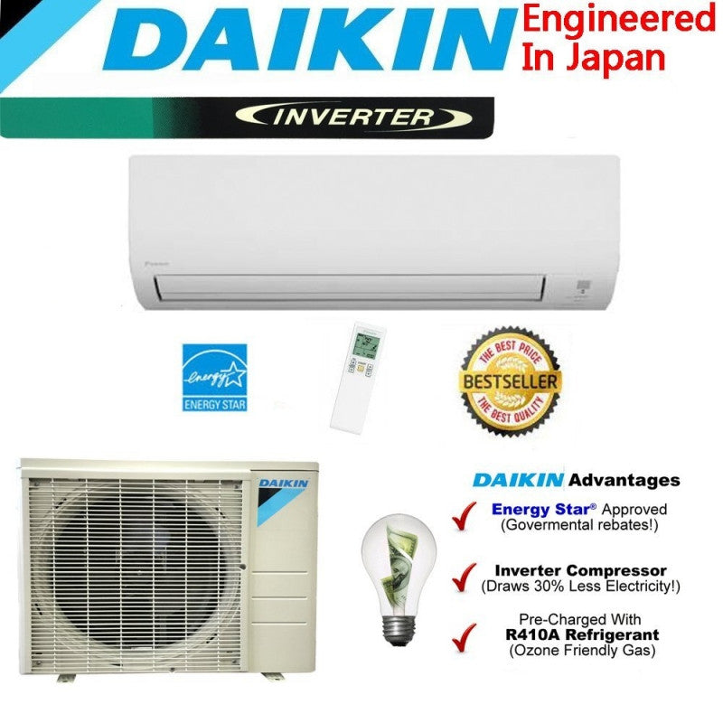 Daikin 24000 BTU Ductless Mini Split rx24n - d-airconditioning