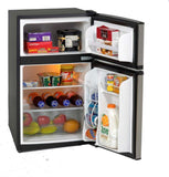 Model RA3136SST - 3.1 CF Two Door Counterhigh Refrigerator - Black w/Stainless Steel Doors