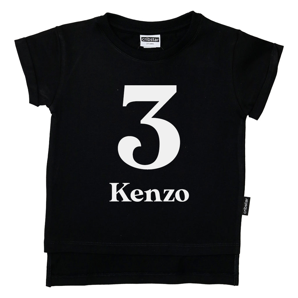Personalised 3rd Birthday T-shirt