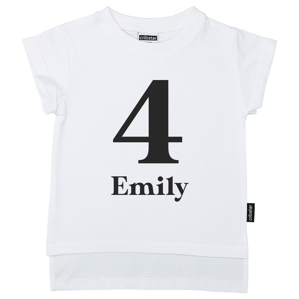 Personalised 4th Birthday T-shirt