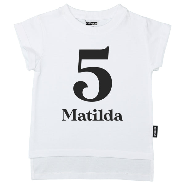 Personalised 5th Birthday T-shirt