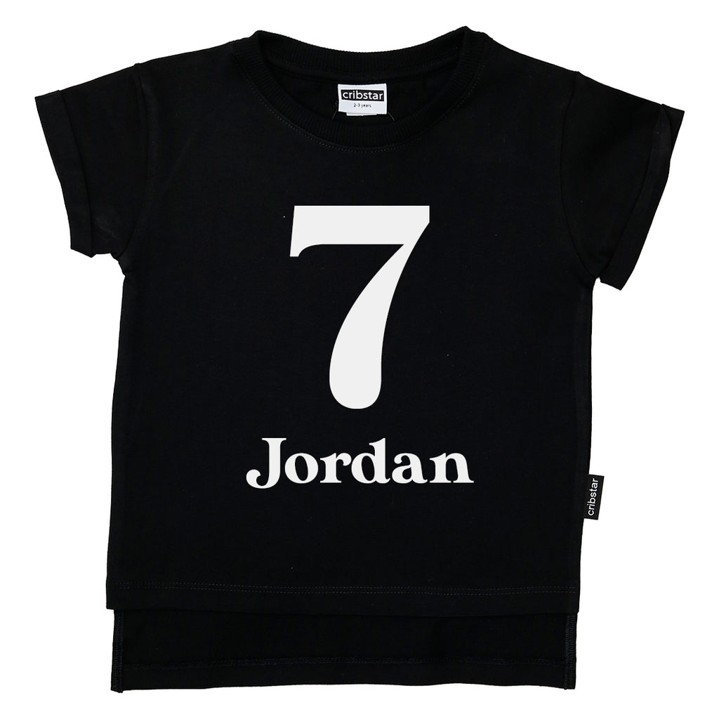 Personalised 7th Birthday T-shirt