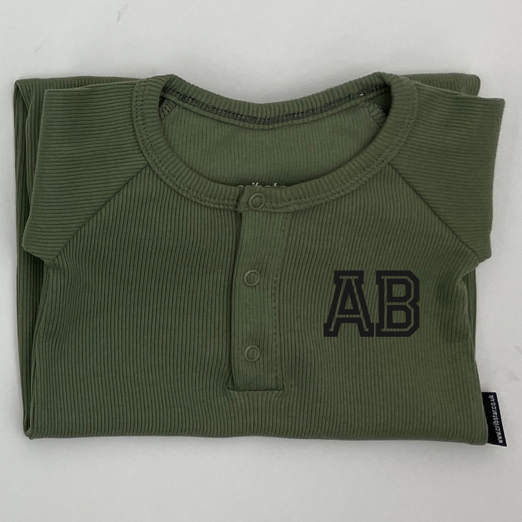 Embroidery Personalisation (varsity initials/baby romper)