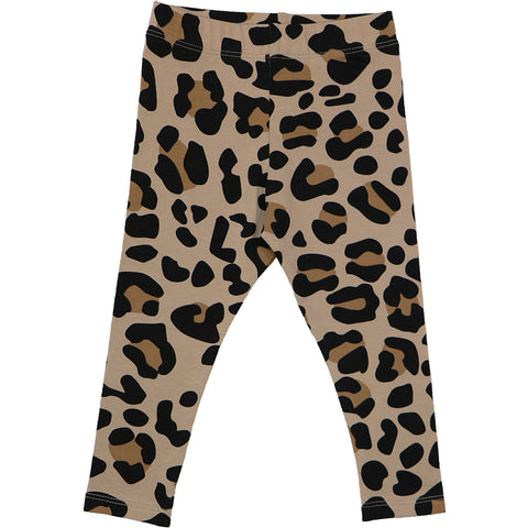Beige Leopard Leggings