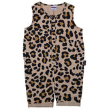 Beige Leopard Shorty Romper