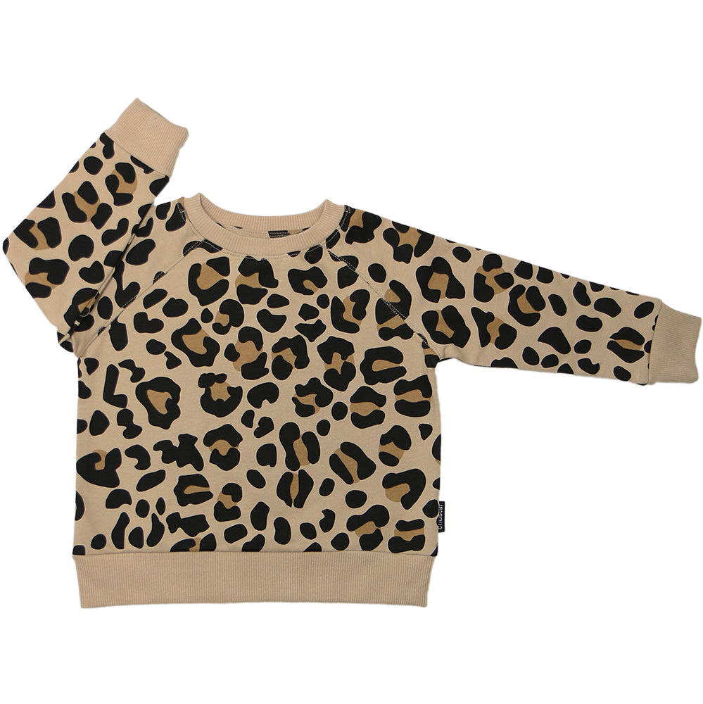 Beige Leopard Sweatshirt - 100% cotton