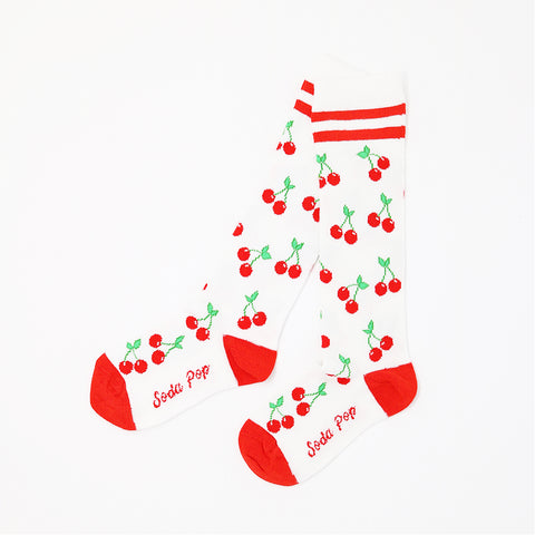 Cherry Sporty Kids Knee High Socks